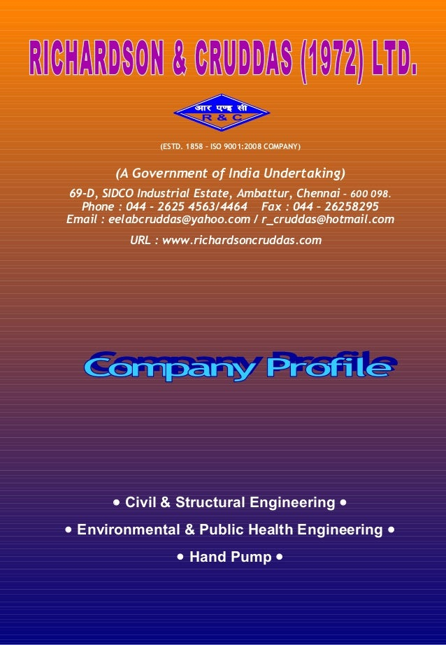 (ESTD. 1858 – ISO 9001:2008 COMPANY)  (A Government of India Undertaking) 69-D, SIDCO Industrial Estate, Ambattur, Chennai...