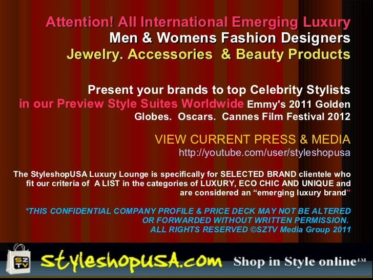Attention! All International Emerging Luxury                 Men & Womens Fashion Designers           Jewelry. Accessories...