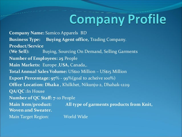 Company Business Profile Sample. Sample Business Profile,Courier
