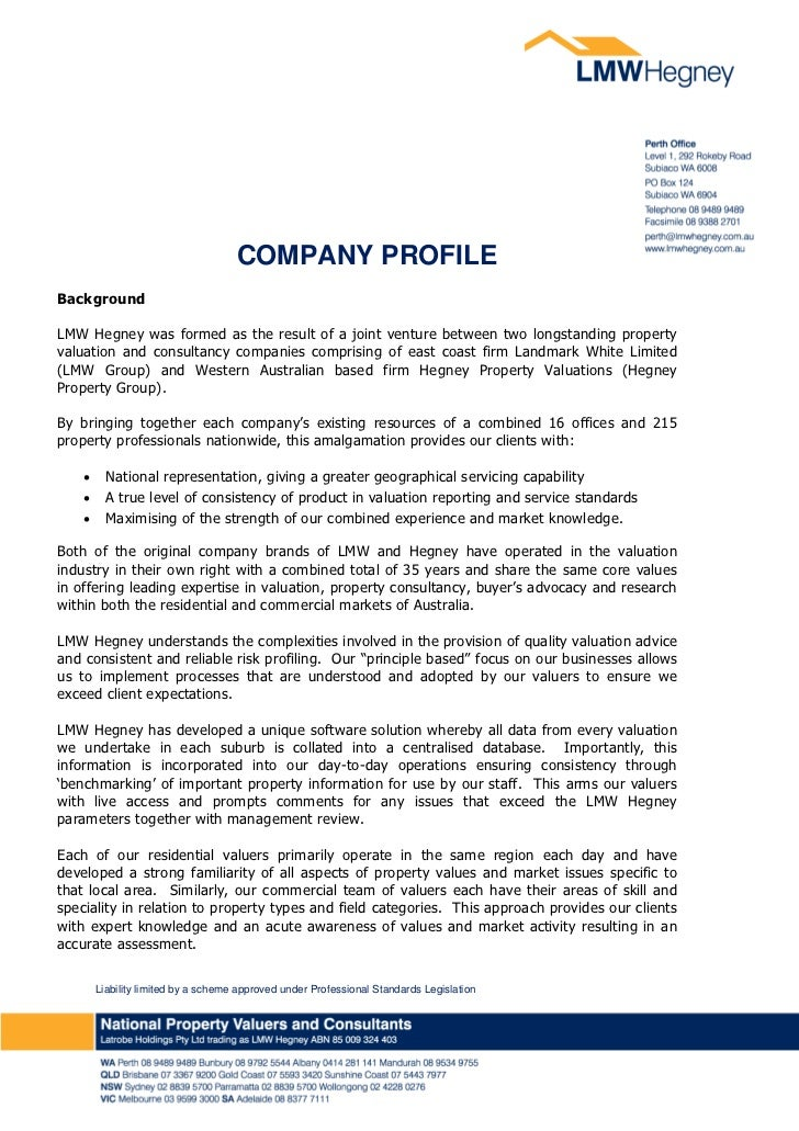 COMPANY PROFILE                                                                	BackgroundLMW Hegney was formed as the res...