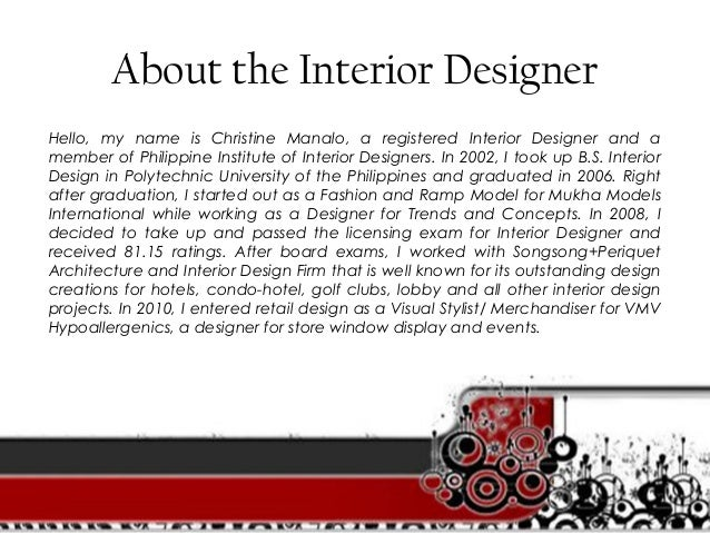 ... Customer Satisfaction; 5. About The Interior Designer ...