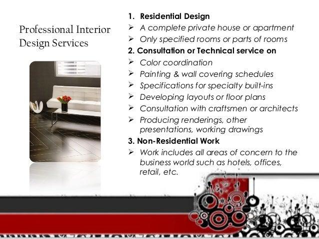Interior Design Services; 8.