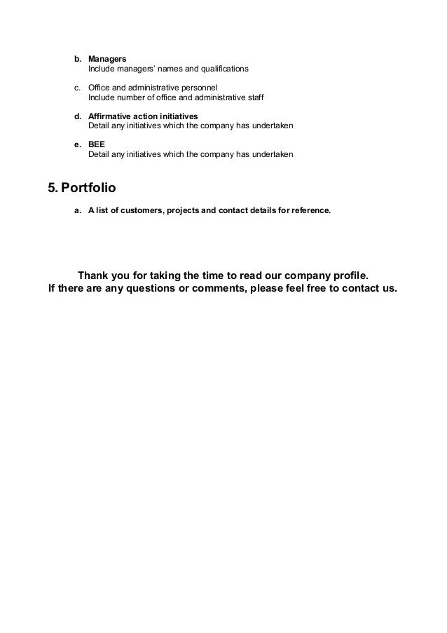 Company profile template – Company Profile Template