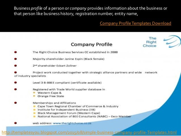 Company profile templates – Company Business Profile