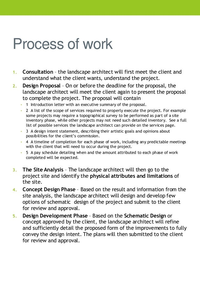 Landscaping Business Proposal Tirevi Fontanacountryinn Com Letter