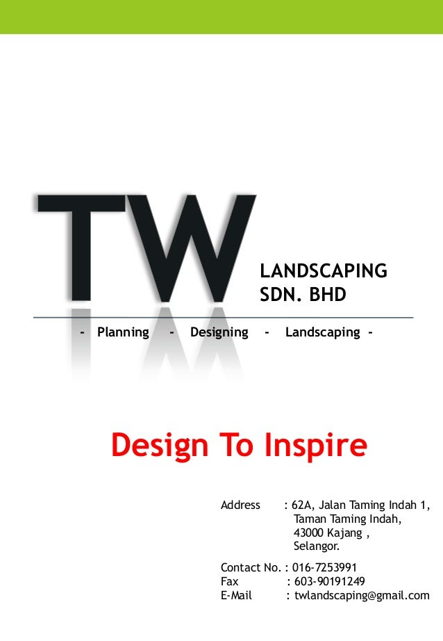 Company profile tw landscaping for Landscaping companies