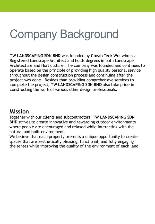 Company profile tw landscaping company background thecheapjerseys Choice Image