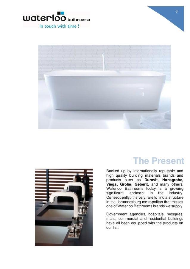 Waterloo Bathrooms Product Offering - Bathrooms waterloo