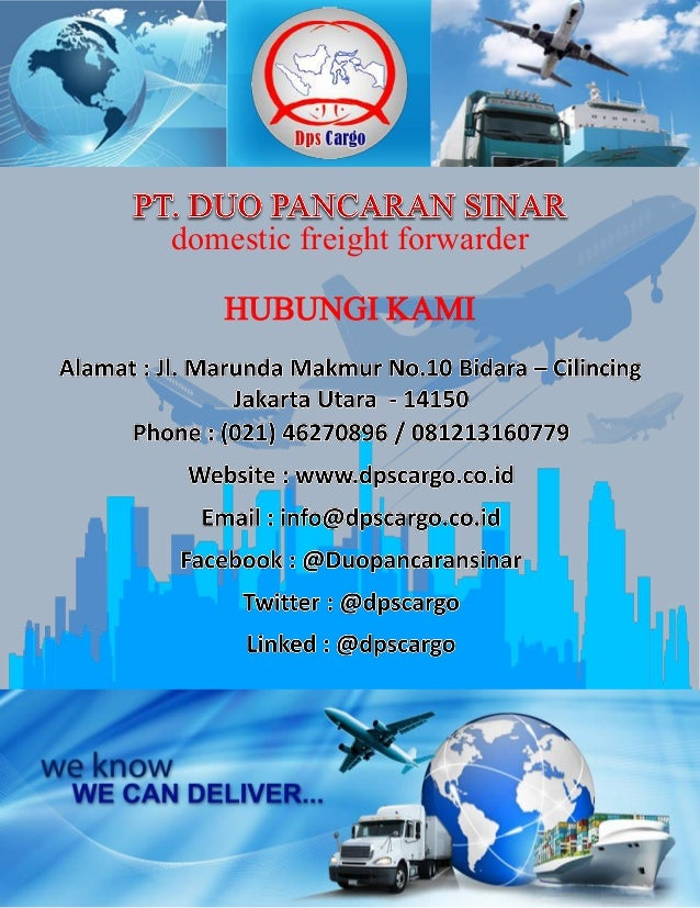 Pt Duo Pancaran Sinar Domestic Freight Forwarder