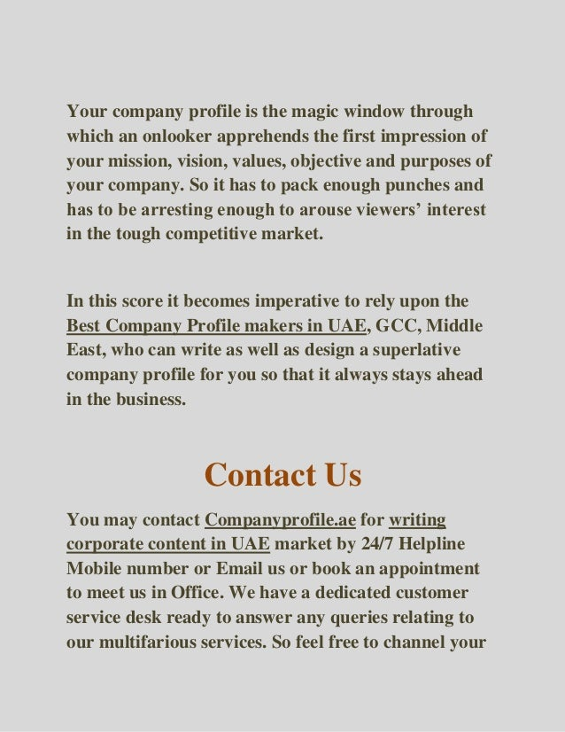 Download a Free Company Profile Template