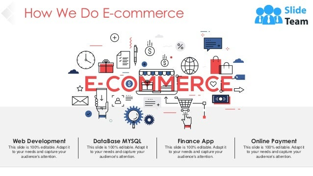 How We Do E-commerce Web Development This slide is 100% editable. Adapt it to your needs and capture your audience's atten...