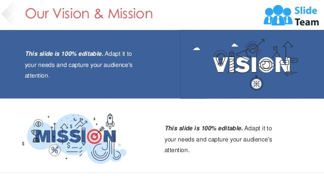 Our Vision & Mission 4 This slide is 100% editable. Adapt it to your needs and capture your audience's attention. This sli...