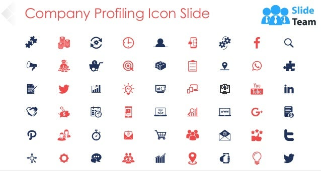 Company Profiling Icon Slide 44