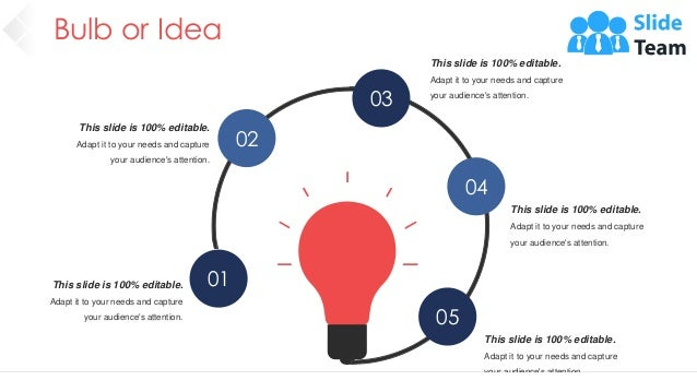 Bulb or Idea 64 01 02 03 04 05 This slide is 100% editable. Adapt it to your needs and capture your audience's attention. ...