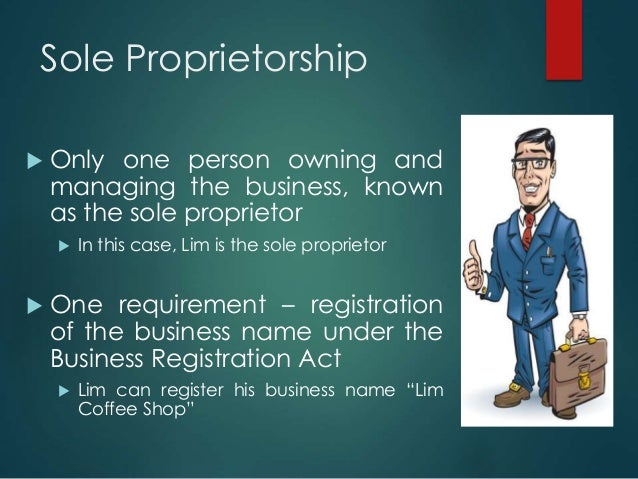 running a sole proprietorship case study answers Answer to one of the major disadvantages of a sole proprietorship is a that there is unlimited  get this answer with chegg study view this answer or find your book.