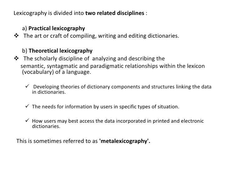Comp app lexicography