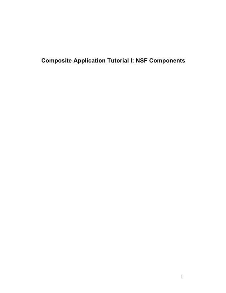 Composite applications tutorial