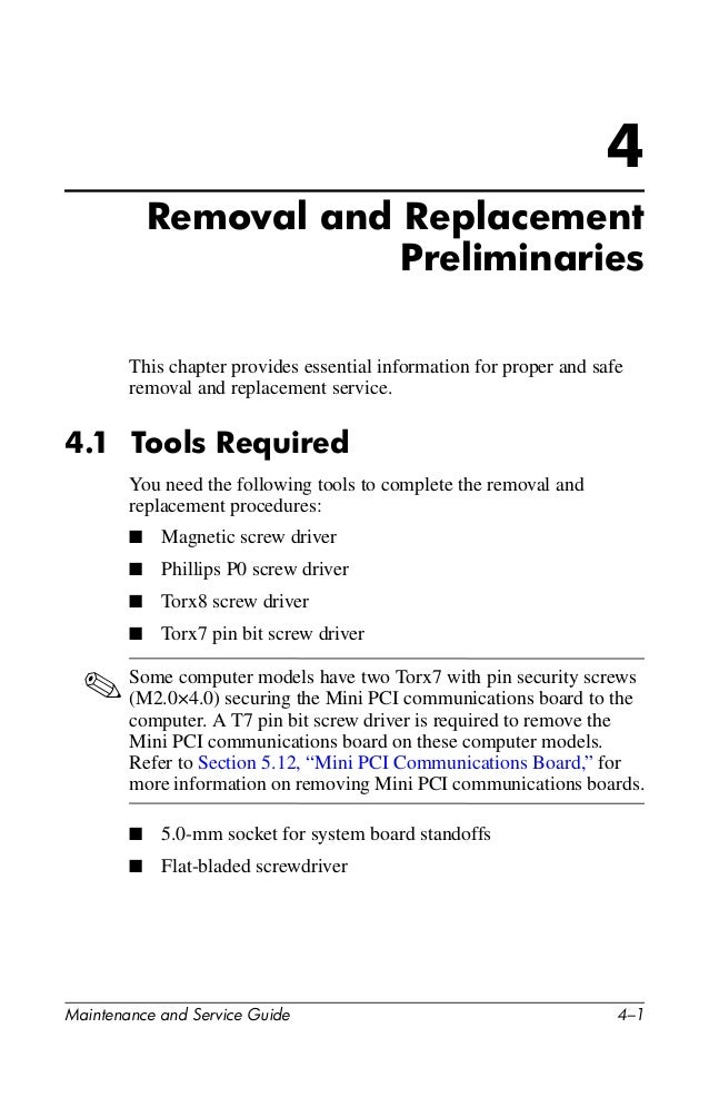Compaq nc8000 maintenance and service guide.