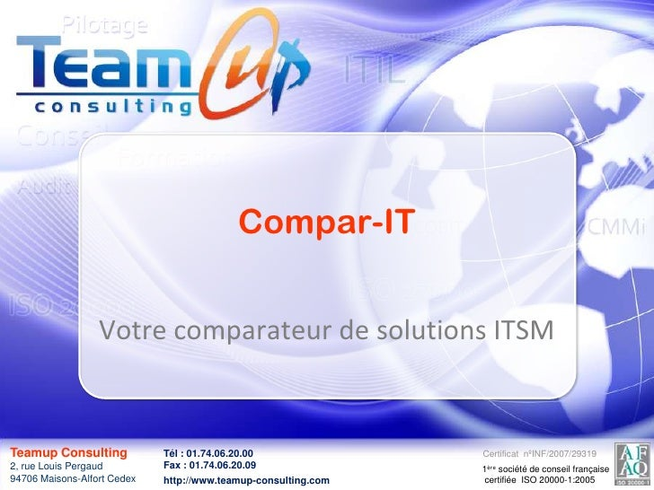 Compar-IT<br />Votre comparateur de solutions ITSM<br />