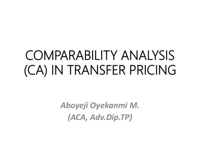 Transfer pricing study limitations