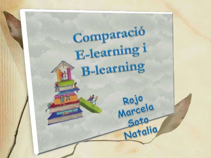 Comparació b e-learning