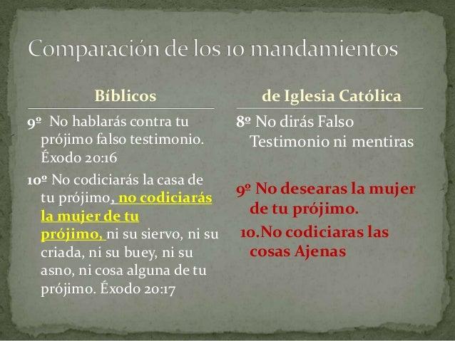 Bíblicos 9º No hablarás contra tu prójimo falso testimonio. Éxodo 20:16 10º No codiciarás la casa de tu prójimo, no codici...
