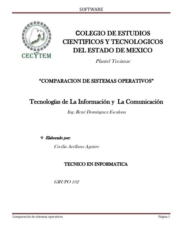 SOFTWARE                                    COLEGIO DE ESTUDIOS                                 CIENTIFICOS Y TECNOLOGICOS...