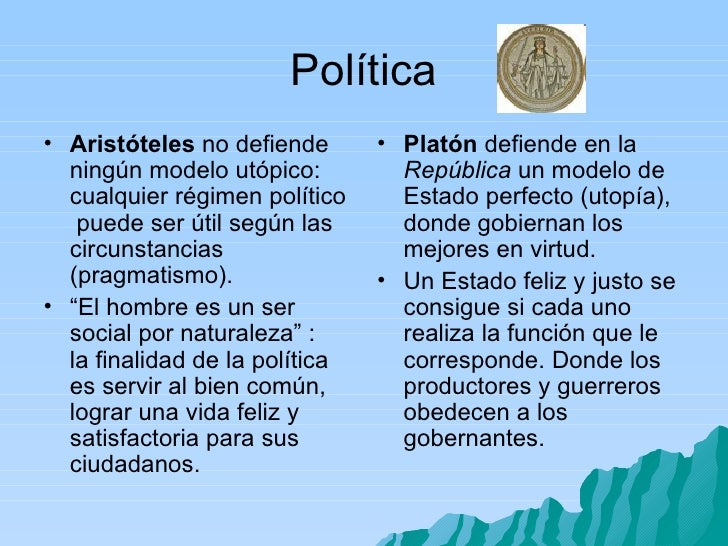 Comparacion platonyaristoteles - Republica de las ideas ...