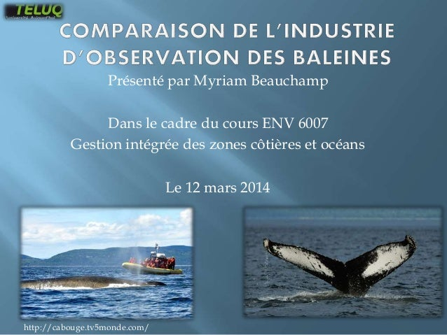Présenté par Myriam Beauchamp Dans le cadre du cours ENV 6007 Gestion intégrée des zones côtières et océans Le 12 mars 201...