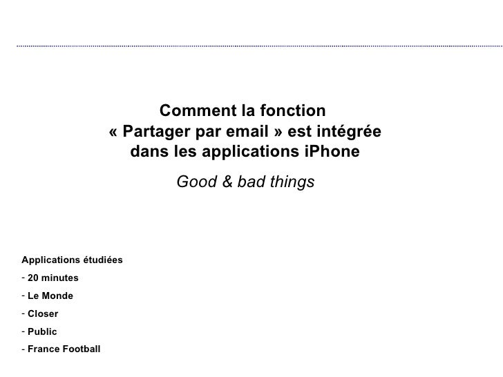 comparaison fonction email iphone