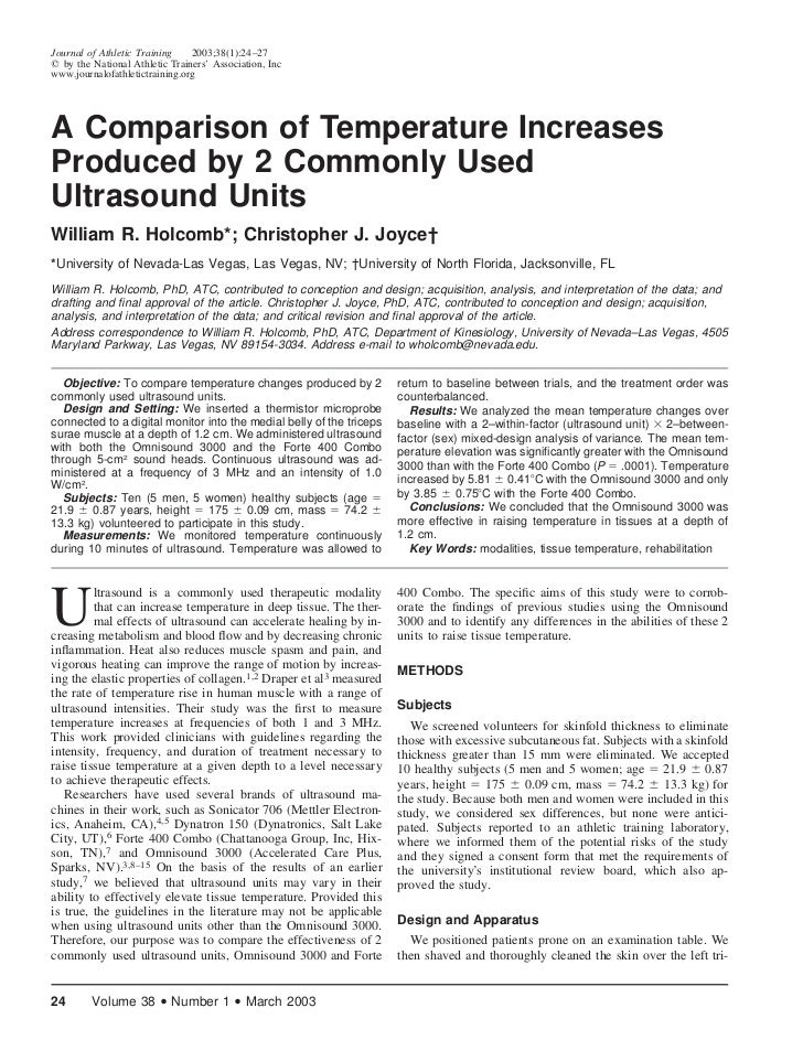 Journal of Athletic Training    2003;38(1):24–27  by the National Athletic Trainers' Association, Incwww.journalofathletic...