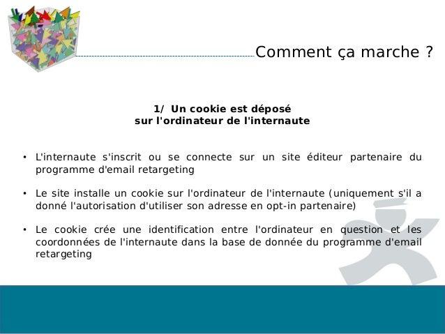 1/ Un cookie est déposé sur l'ordinateur de l'internaute • L'internaute s'inscrit ou se connecte sur un site éditeur parte...