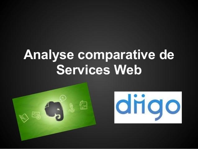 Analyse comparative de     Services Web