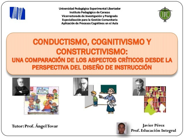 Universidad Pedagógica Experimental Libertador                                   Instituto Pedagógico de Caracas          ...