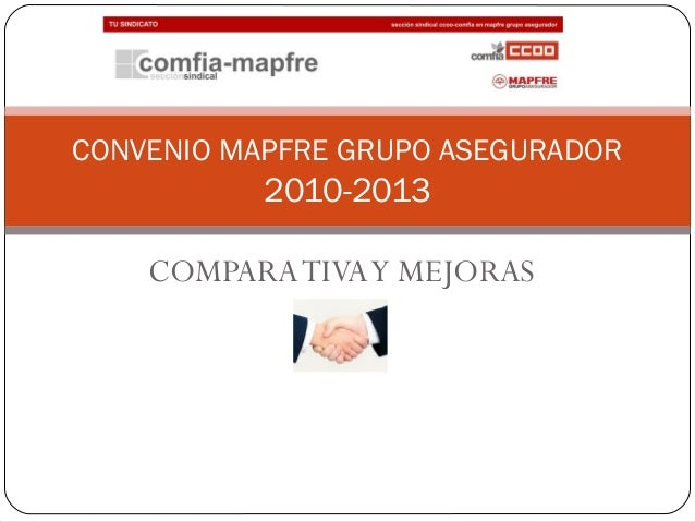 COMPARATIVAY MEJORAS CONVENIO MAPFRE GRUPO ASEGURADOR 2010-2013