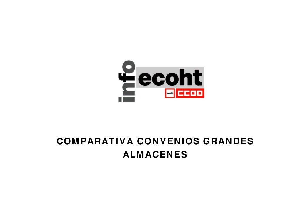 COMPARATIVA CONVENIOS GRANDES          ALMACENES