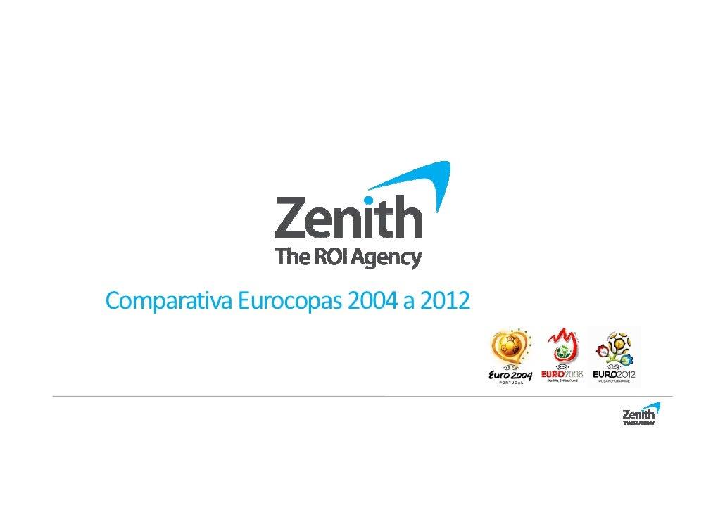 Comparativa Eurocopas 2004 a 2012