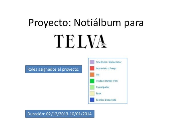 Proyecto: Notiálbum para  Roles asignados al proyecto:  Duración: 02/12/2013-10/01/2014