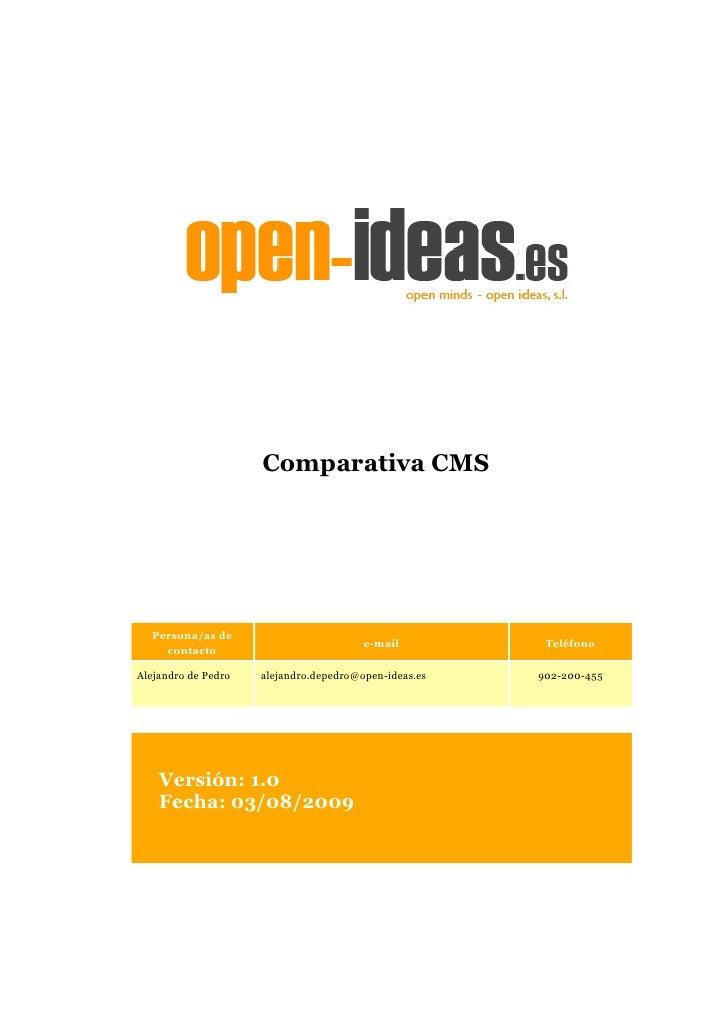 Comparativa CMS       Persona/as de                                         e-mail          Teléfono     contacto  Alejand...