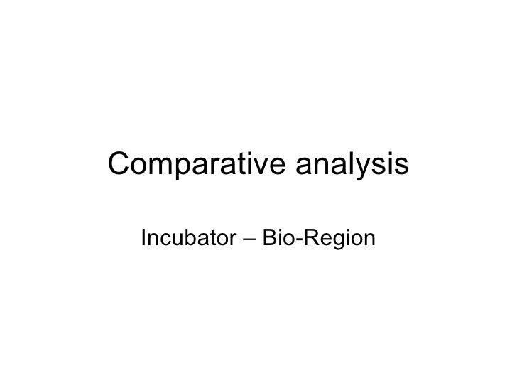 Comparative analysis Incubator – Bio-Region