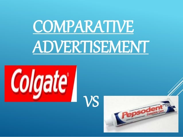 advertisement comparison Should your ads mention your competitors by name and their products in your advertising of comparison ads but comparative advertising carries.
