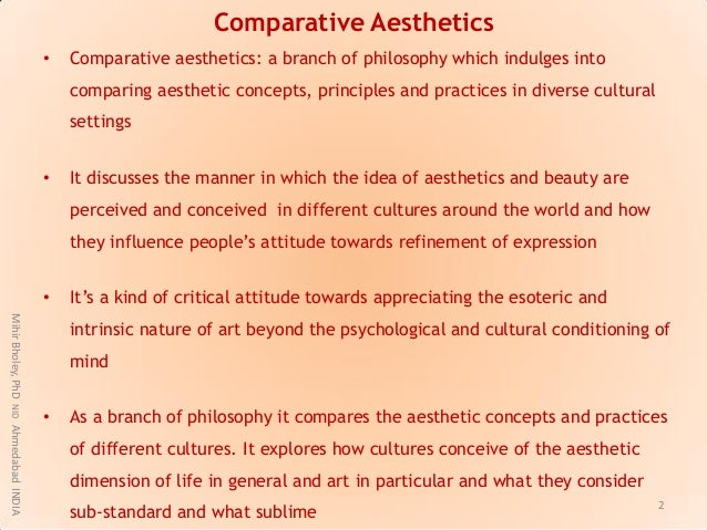 aesthetics the philosophical study of beauty View notes - unit 1 notes from hu 245 at kaplan university key terms aesthetics: in philosophy, the study of values in art or beauty related to ethics because it involves values, although here the.