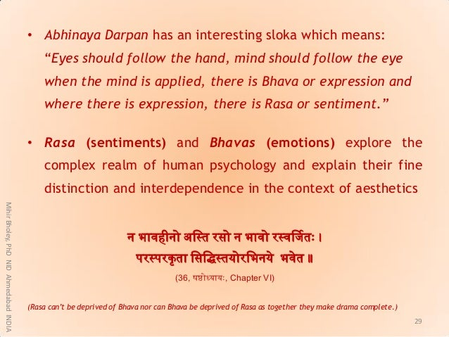 """• Abhinaya Darpan has an interesting sloka which means: """"Eyes should follow the hand, mind should follow the eye when the ..."""