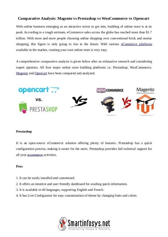 Prestashop vs OpenCart vs WooCommerce vs Magento