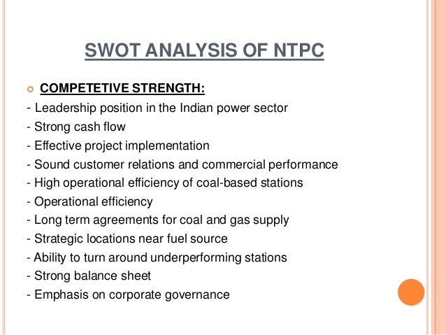 swot analysis of tata power It robotic automation market - new era of industry, swot analysis, growth,   entrants, the customer bargaining power, the supplier bargaining power, the   ibm, bmc, sutherland global service (sgs) & tcs (tata group.