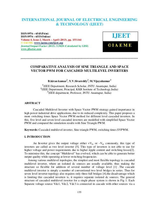 INTERNATIONAL JOURNAL OFIssue 2, March – April (2013), ©ISSN 0976 – International Journal of Electrical Engineering and Te...
