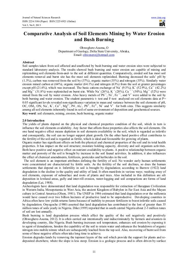 Journal of Natural Sciences Research www.iiste.org ISSN 2224-3186 (Paper) ISSN 2225-0921 (Online) Vol.3, No.9, 2013 11 Com...