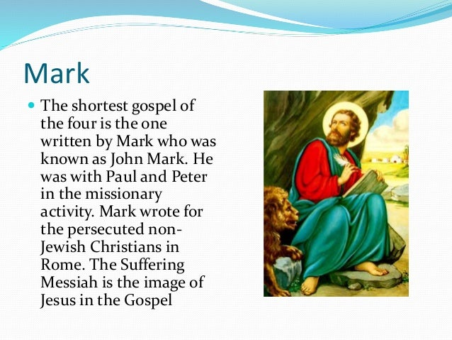 an analysis of the four gospels of mathew mark luke and john on the mission of jesus christ The word gospel means good news, and is a term used to define the written accounts of jesus of nazareth in the new testament the four widely known gospels are the canonical gospels of matthew, mark, luke, and john.
