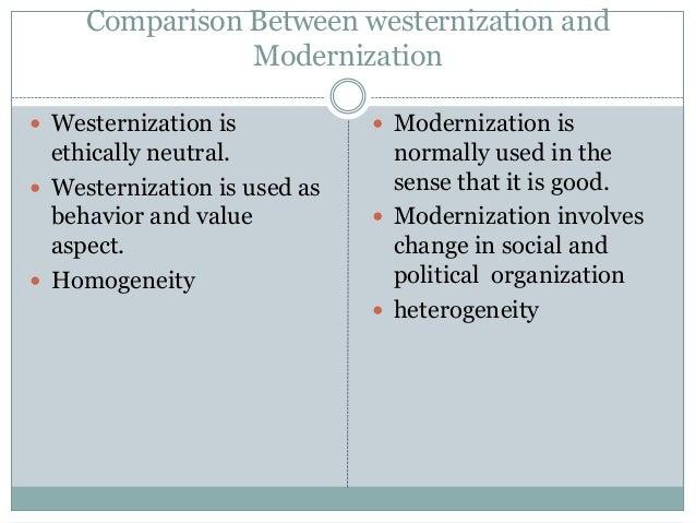 modernisation vs westernisation essay