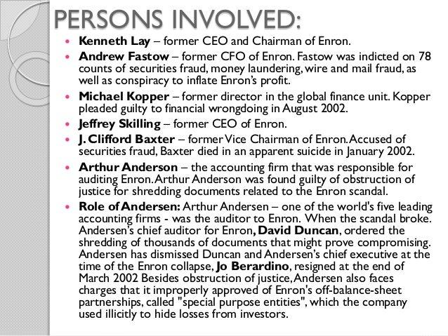 Enron corporate debacle essay